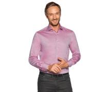 Business Hemd Custom Fit rot/weiß gemustert