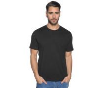 T-Shirt 2er Set, Schwarz, Herren