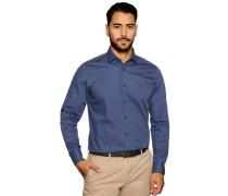 Business Hemd Slim Fit blau/rot