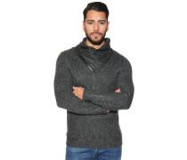 Pullover mit zipbarem Kragen anthrazit