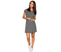 Kleid, schwarz/weiß