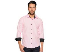 Langarm Hemd Slim Fit rosa