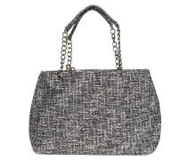 Tasche grau/weiß/silber