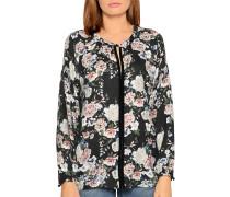 Langarm Blusenshirt schwarz/mehrfarbig