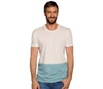 Kurzarm T-Shirt offwhite/grün