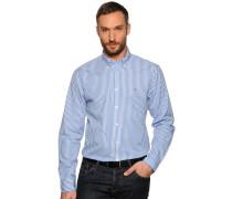 Business Hemd Regular Fit weiss/blau gestreift