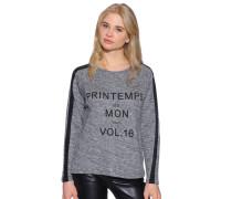 Sweatshirt, schwarz/weiß meliert