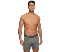 Boxershorts 2er Set grau/schwarz
