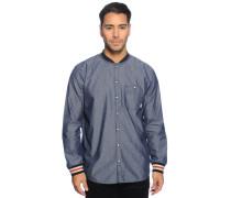 Langarm Hemd Custom Fit blau