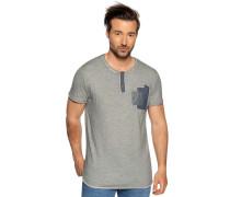 Kurzarm T-Shirt grau mliert