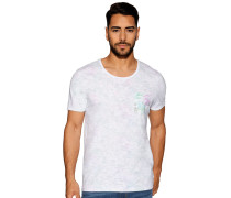 Kurzarm T-Shirt weiß/mint