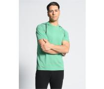 T-Shirt grün meliert