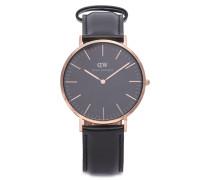 Armbanduhr schwarz/roségold