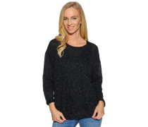 Langarm Sweatshirt schwarz