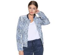 Jacke blau/weiß