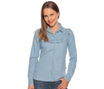 Langarm Jeansbluse hellblau