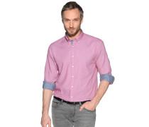 Business Hemd Regular Fit rot/weiß