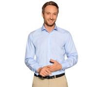Business Manschettenhemd Regular Fit hellblau