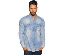 Langarm Hemd Slim Fit blau