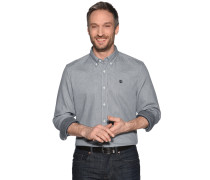Langarm Hemd Slim Fit schwarz/weiß