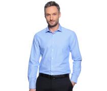 Business Hemd Custom Fit blau/weiß gestreift