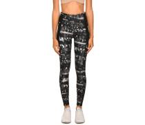 Sport-Leggings schwarz/weiß/grau