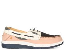 Mokassins rosa/navy/weiß