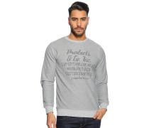 Sweatshirt grau melange
