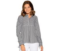 Langarm Bluse weiß/schwarz