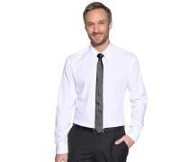 Hemd Slim Fit + Krawatte weiß/schwarz