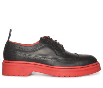 Schnürschuhe schwarz/rot