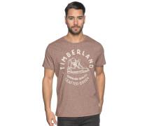 Kurzarm T-Shirt braun meliert