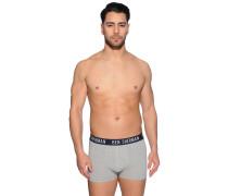 Boxershorts 2er Set grau/navy/rot