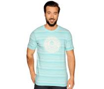 Kurzarm T-Shirt türkis meliert