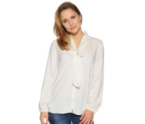 Langarm Bluse offwhite