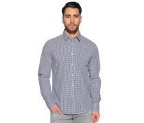 Langarm Hemd Regular Fit schwarz/weiß kariert