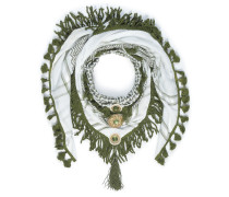 Tuch weiß/grün