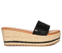 Sandalen schwarz/beige