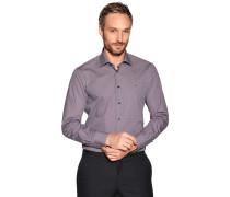 Business Hemd Custom Fit rot/weiß/navy