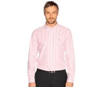 Business Hemd Regular Fit rot/weiß gestreift