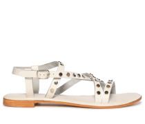 Sandalen weiß/silber