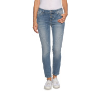 Jeans Jasmin Button blau