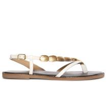 Sandalen weiß/gold