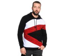 Pullover schwarz/rot/weiß
