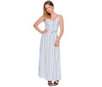 Kleid weiß/blau