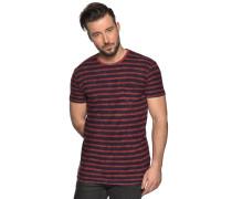 Kurzarm T-Shirt rot/navy