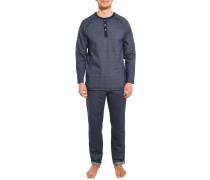 Pyjama graublau meliert