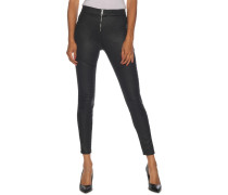 Jeans Skinny Ankle High Rise schwarz