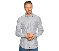 Business Hemd Slim Fit schwarz/weiß