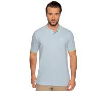 Kurzarm Poloshirt hellblau
